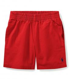 Ralph Lauren Little Boys Red Chino Pull-On Shorts