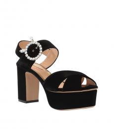 Charlotte Olympia Black Bejewelled Heels