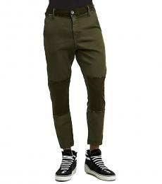 True Religion Militant Green Relaxed Slim Runner Jeans