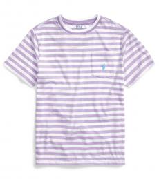 Boys English Lavender Striped T-Shirt