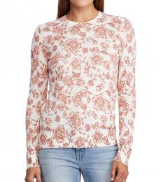 Ralph Lauren Pale Cream Floral Sweater