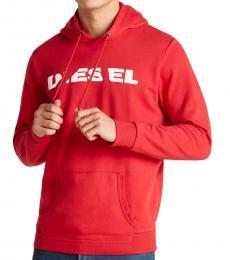 Diesel Red/White Agnes Chisel Hoodie