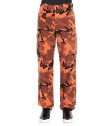 McQ Alexander McQueen Orange Camo cargo pants
