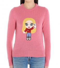 Pink Cf Mascotte Cashmere Weater