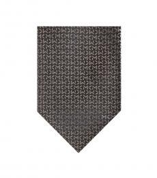 Michael Kors Grey Bold Logo Repeat Tie