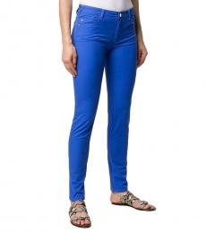 Emporio Armani Royal Blue Denim Low Rise Skinny Jeans