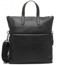 Coach Black Graham Foldover Large Tote