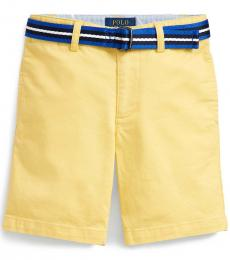Ralph Lauren Little Boys Yellow Slim Fit Belted Chino Shorts