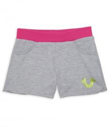 True Religion Girls Heather Grey Shorts