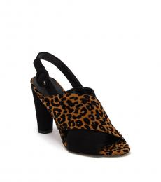 Diane Von Furstenberg Black Leopard Bailie Heels