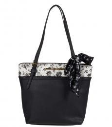 Black Floral XO Aaliya Shopper Medium Tote