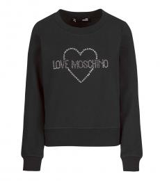 Love Moschino Black Logo Pullover