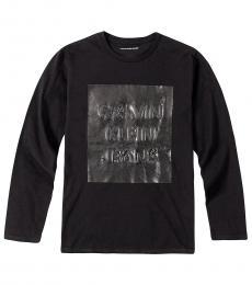 Calvin Klein Little Boys Black Overprint T-Shirt