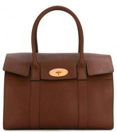 Brown Flap Cover Large Tote
