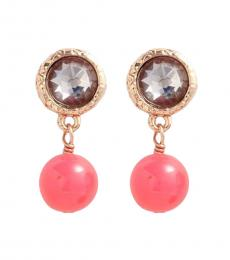 Marc Jacobs Pink Gold Exploded Bow Drop Earrings