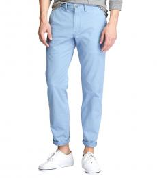 Light Blue Stretch Straight Fit Chino