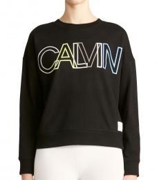 Calvin Klein Black Logo Crew Neck Sweatshirt
