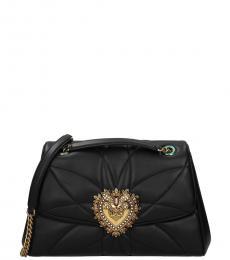 Dolce & Gabbana Black Devotion Medium Shoulder Bag