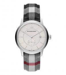 Burberry Silver-Black Horse-Ferry Watch