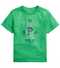 Ralph Lauren Little Boys Golf Green Jersey Graphic T-Shirt