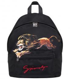 Givenchy Black Lion Large Backpack