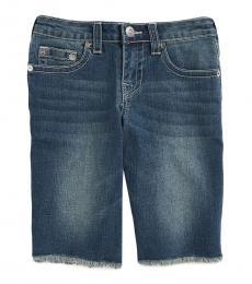 True Religion Boys Laguna Cutoff Denim Slim Fit Shorts