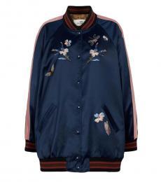 Coach Navy Blue Oversized Souvenir Jacket
