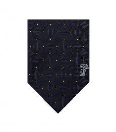 Versace Black Minimalist Tie