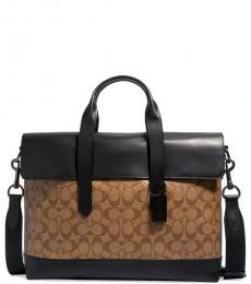 Coach Tan Hamilton Portfolio Large Breifcase Bag