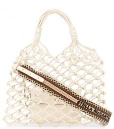 Stella McCartney White Knotted Large Tote