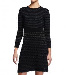 Kate Spade Black Scallop Shine Sweater Dress