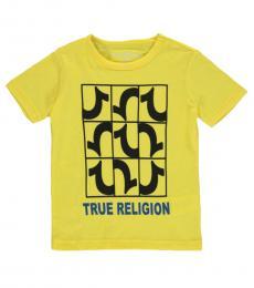 True Religion Little Boys Yellow Graphic T-Shirt