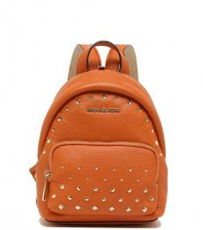 Michael Kors Tangerine Erin Studded Convertible Small Backpack
