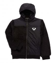 True Religion Little Boys Black Bomber Jacket