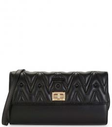 Black Graced Quilted Large Crossbody