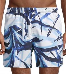 Emporio Armani White Drawstring Swim Shorts
