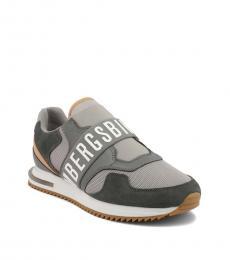 Bikkembergs Grey Haled Sneakers