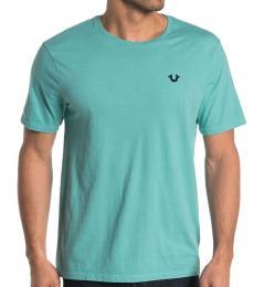 True Religion Aqua Front Logo T-Shirt