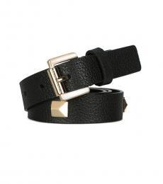 Michael Kors Black Studded Leather Belt