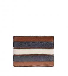 Coach Saddle-Midnight Varsity Stripe Wallet