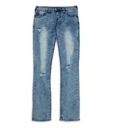 True Religion Girls Blue Faded & Distressed Jeans