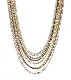 Ralph Lauren Multi Color Multi Chain Necklace