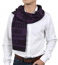 Roberto Cavalli Purple Exclusive Signature Scarf