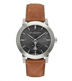 Burberry Brown Embossed Check Watch