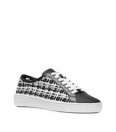 Michael Kors Black White Olivia Tweed Sneakers