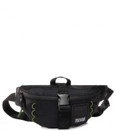 Versace Jeans Black Solid Small Crossbody Bag