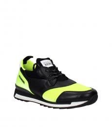 Black Yellow Sporty Sneakers