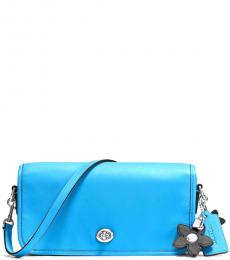 Coach Blue Turnlock Small Crossbody