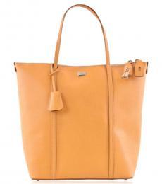 Dolce & Gabbana Orange Shopper Large Tote