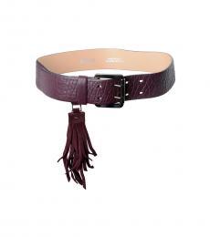 Purple Leather Classic Belt